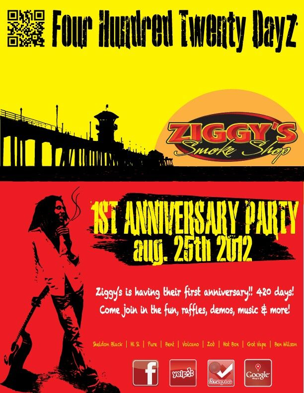 Dayz St Anniversary Flyer For Ziggyssmokeshop
