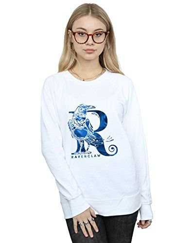 03eb0f62 Absolute Cult Harry Potter Mujer Ravenclaw Raven Camisa De Entrenamiento  Blanco Small