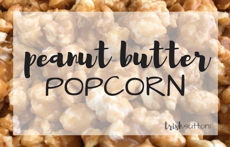 Peanut Butter Popcorn | Salty and Sweet Popcorn Recipe