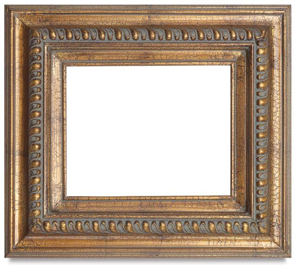 Gold Leaf Crackle Projects Frame Cadres