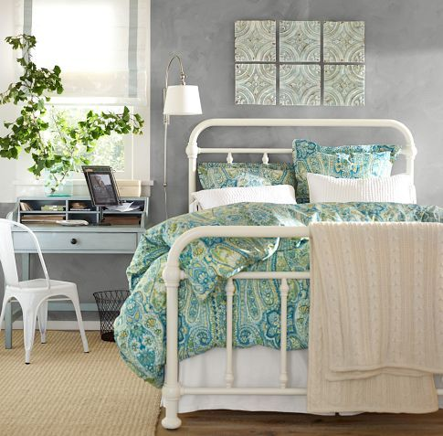 Coleman Metal Bed, Full, White finish Pottery Barn Beds