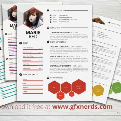 Download Free High Quality Clean Professional Resume Template Psd