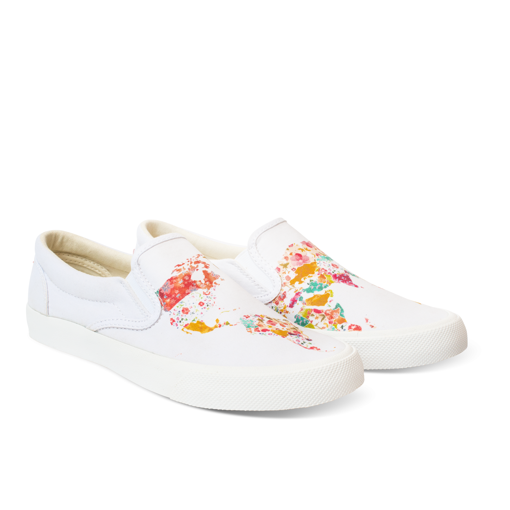 4ca20b254dac BucketFeet - World Map White (Women s)