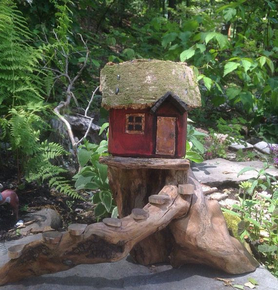 Best Farmhouse Fairy House With Porch Spiral Staircase By 640 x 480