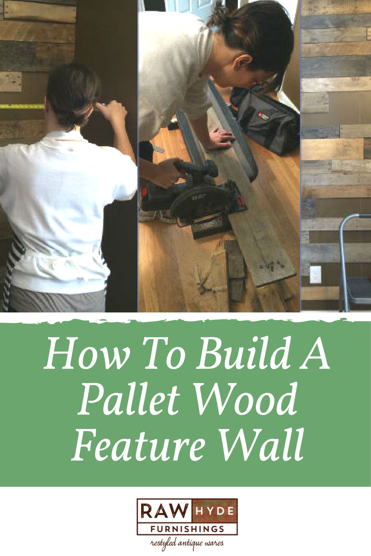 Pallet Wood Feature Wall - How to Build | Wood feature ...