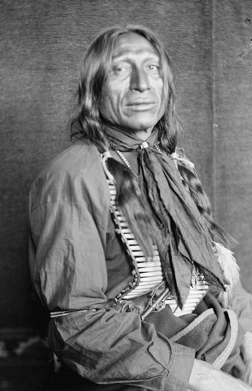 Iron Tail (1842-May 29, 1916) was an Oglala Lakota Chief and a star performer with Buffalo Bill's Wild West. Iron Tail was one of the most famous Native American celebrities of the late 19th and early 20th centuries and a popular subject for professional photographers who circulated his image across the continents. Iron Tail is notable in American history for his distinctive profile on the Buffalo nickel or Indian Head nickel of 1913 to 1938.