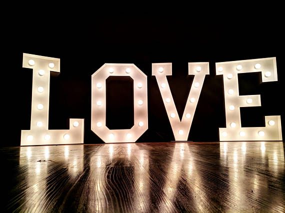 12 40 Large Wedding Sign Marquee Letters Light Up Love Giant Custom L