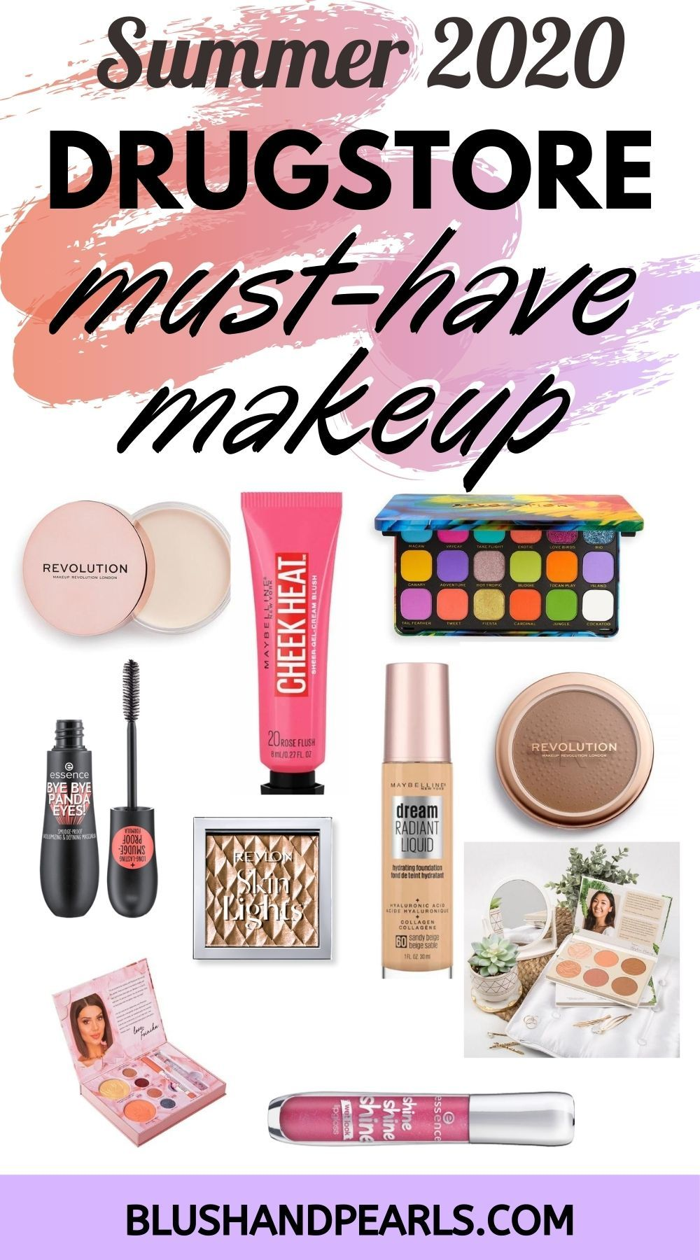 New Summer MustHave Drugstore Makeup Blush & Pearls in