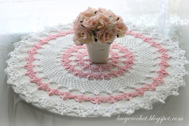 Lacy Crochet Honeysuckle Doily Free Vintage Pattern Teresa