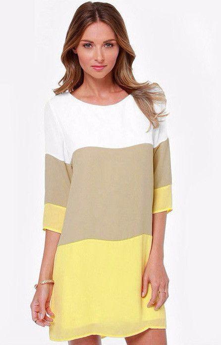 Three Colors Casual Mini Dress