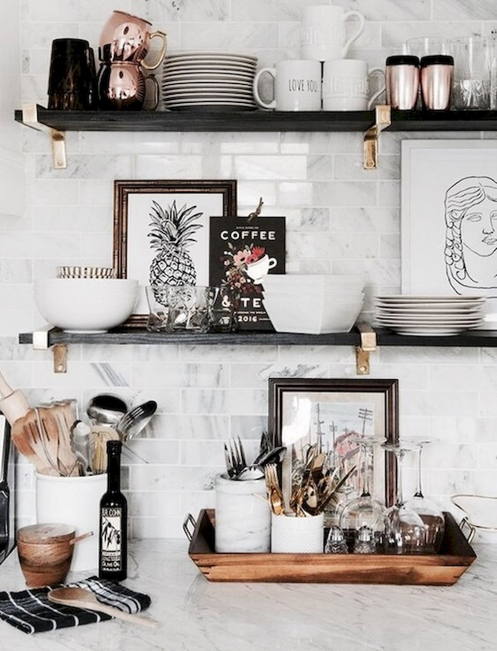 black and white kitchen accessories glass cabinet knobs pin by stachia stoker on home sweet pinterest adorable 55 clean rustic decor ideas https homeastern com 2017