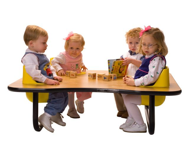 4 Seat Space Saver Toddler Tables With 14 Legs Toddler Table Activity Table Table And Chairs