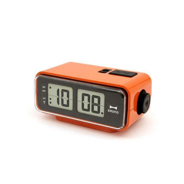 Retro Digital Flip Desk Alarm Clock Orange Alarm Clock Clock
