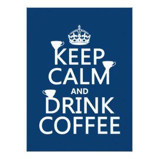 Mantenga café tranquilo y de la bebida - todos los anuncios personalizados