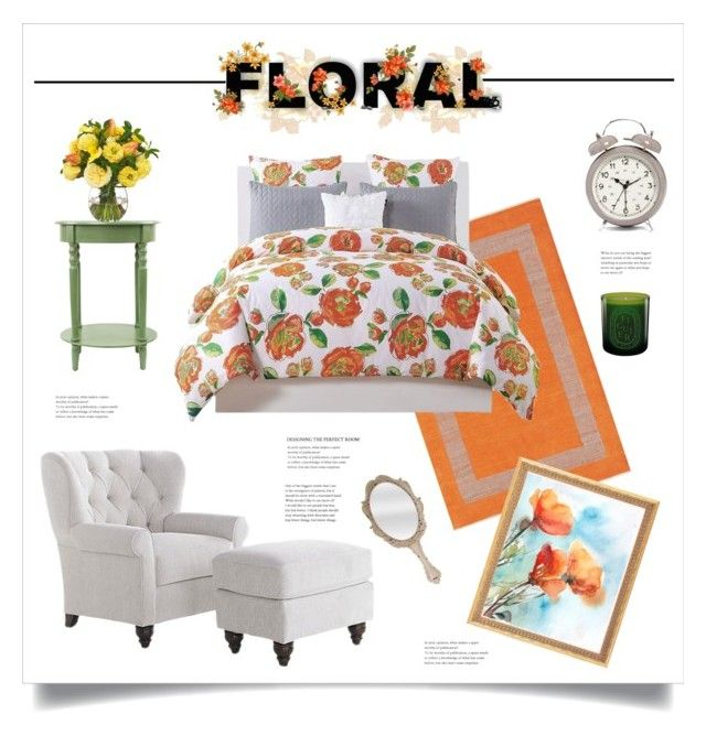 """Bedroom in Bloom"" by grrr8style ❤ liked on Polyvore featuring interior, interiors, interior design, home, home decor, interior decorating, Willa, CB2, Kensie and Creative Co-op"