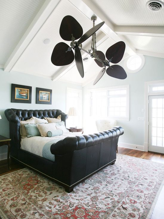 Ceiling Fans For Bedrooms | Traditional Bedroom Sloped Ceiling Design Pictures Remodel