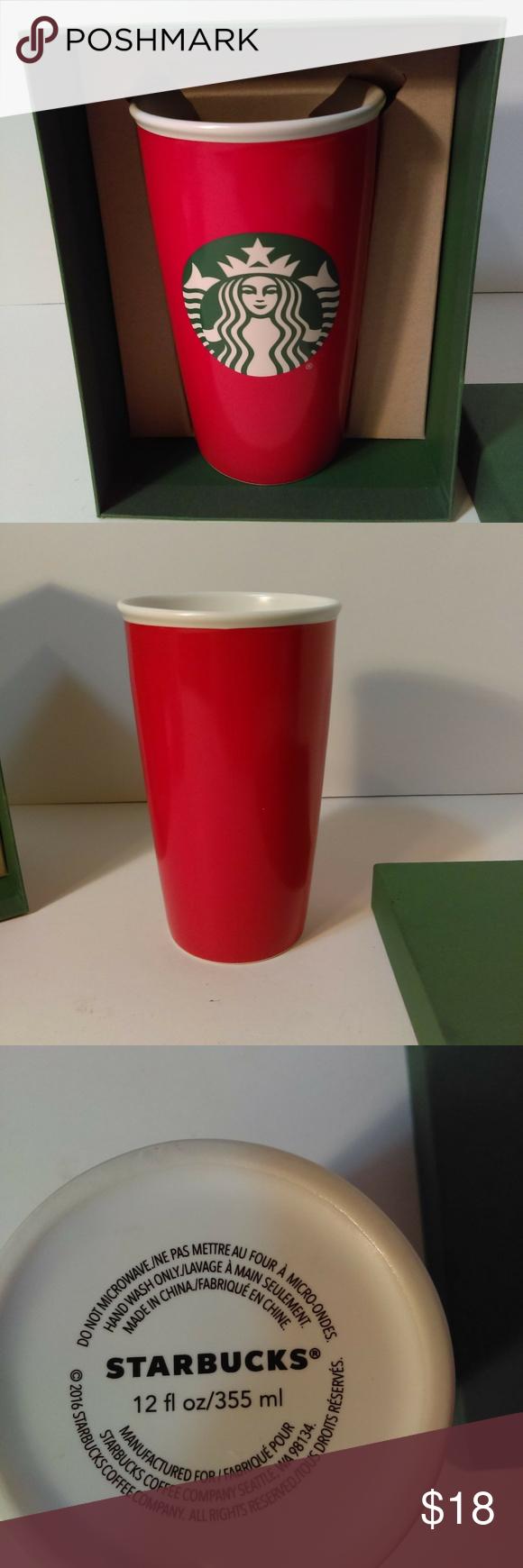 Starbucks 2016 Coffee Mug Cup Red NIB Coffee mugs