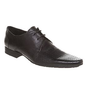 H by Hudson DANNI PERFORATED LACE UP BLACK LEATHER Shoes - Mens Smart Shoes - Office Shoes £79