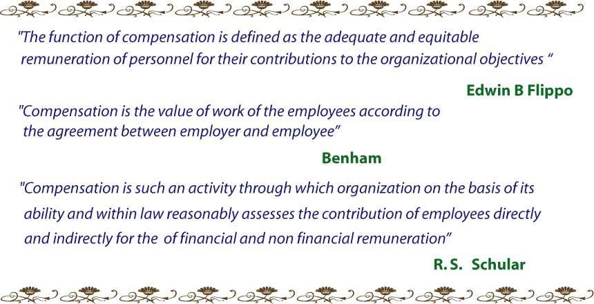 Definition Of Compensation Reward