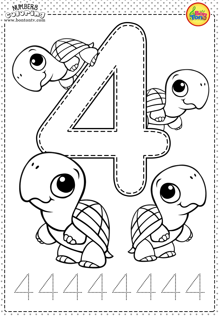 Number 4 - Preschool Printables - Free Worksheets and ...