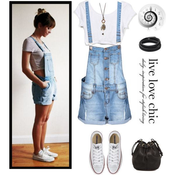 FWF - Overalls by tracireuer on Polyvore featuring Converse, MANGO and With Love From CA