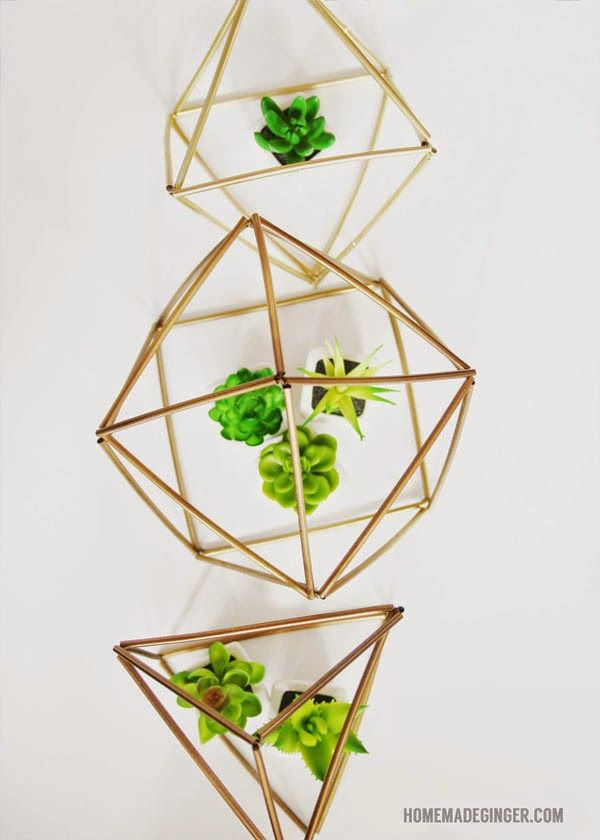 Diy Geometric Planters Gummibear Simple Wedding Decorations Diy