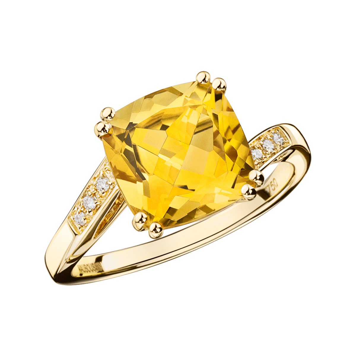 Top Bague Môme Je T'aime, or jaune, citrine et diamants - Mauboussin  TX33