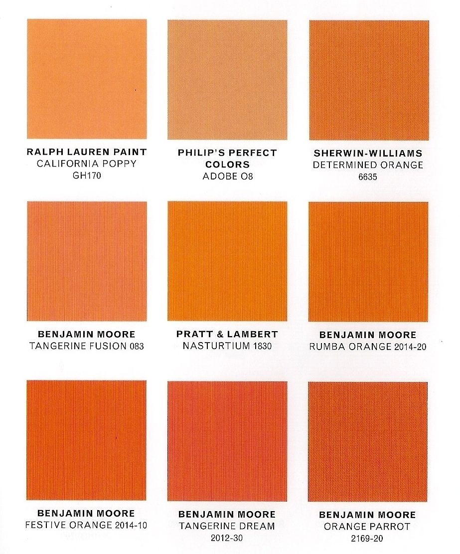 Different Shades Of Orange Paint gretchenjonesnyc: orange is about to be big. | ideas | pinterest