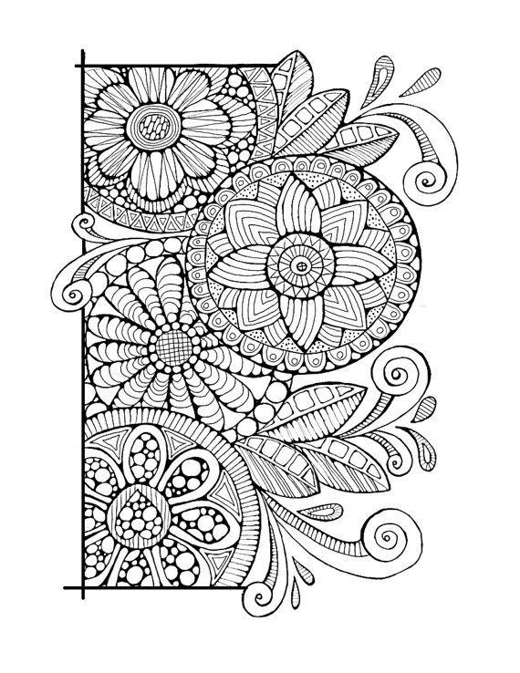 abstract doodle zentangle coloring pages colouring adult detailed advanced printable kleuren voor volwassenen coloriage pour adulte - Zentangle Coloring Pages For Adults