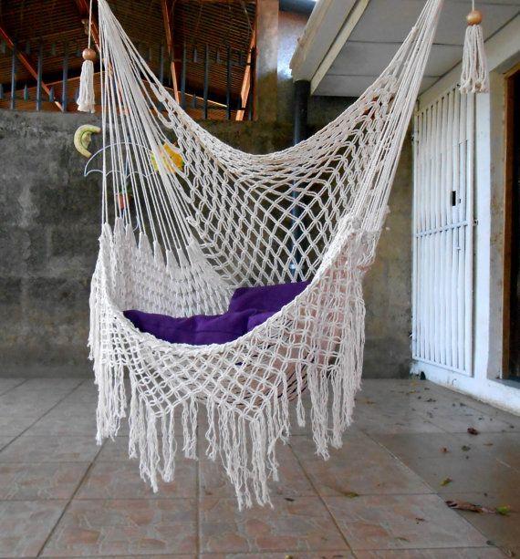 Swing chair macrame special 6500 hammock macrame - Hanging hammock chair for bedroom ...