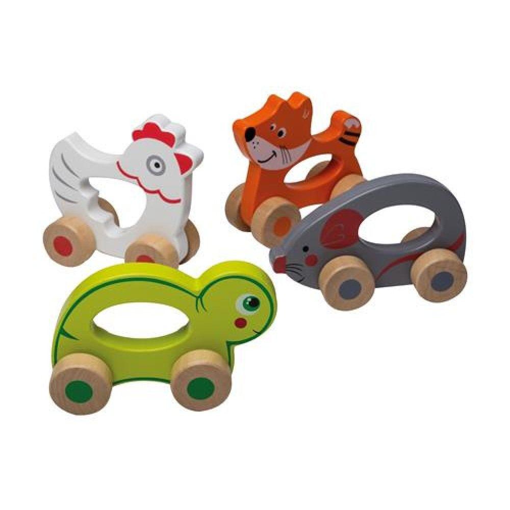 Jouéco® - Rolling cuatro animales surtidos del comercio al por mayor y…