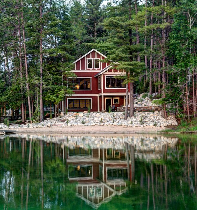 lake house in the woods lake house lake cabin