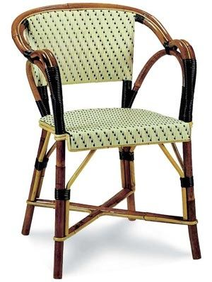 French Bistro Chair I Love Rattan Bistro Chairs!