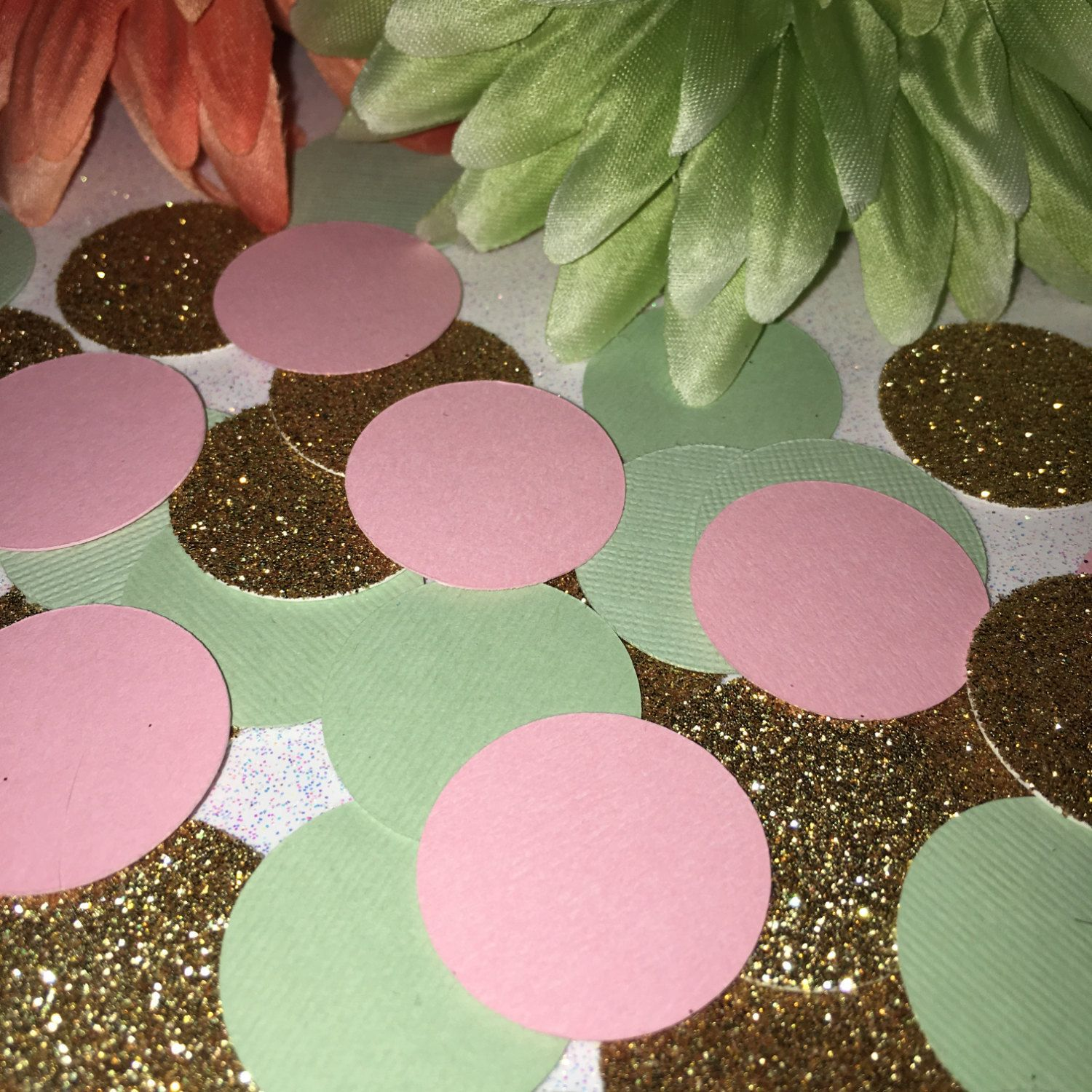 Pink Gold Mint Confetti, First Birthday, Table Scatter, Girl, 1st Birthday Decoration, Baby Shower, Wedding, Bridal, Birthday, Princess by ShimmerMyParty on Etsy
