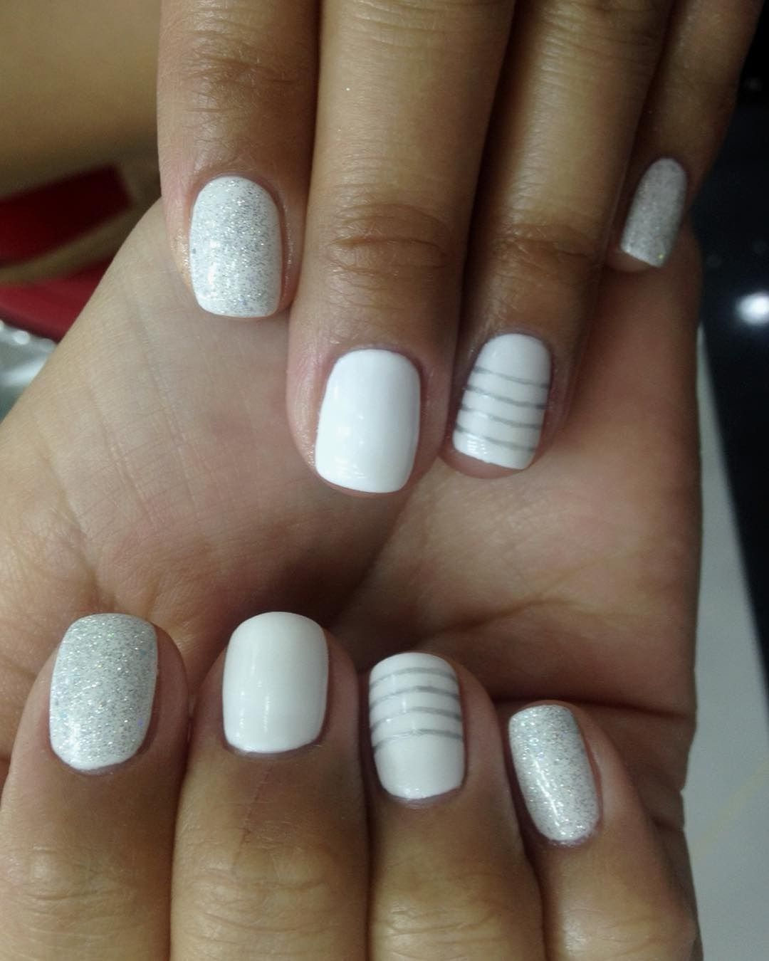9 White-on-White Nail Designs To Keep Your Mani Looking