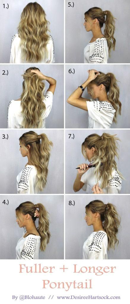 How to Create a Fuller + Longer Ponytail #fullerponytail