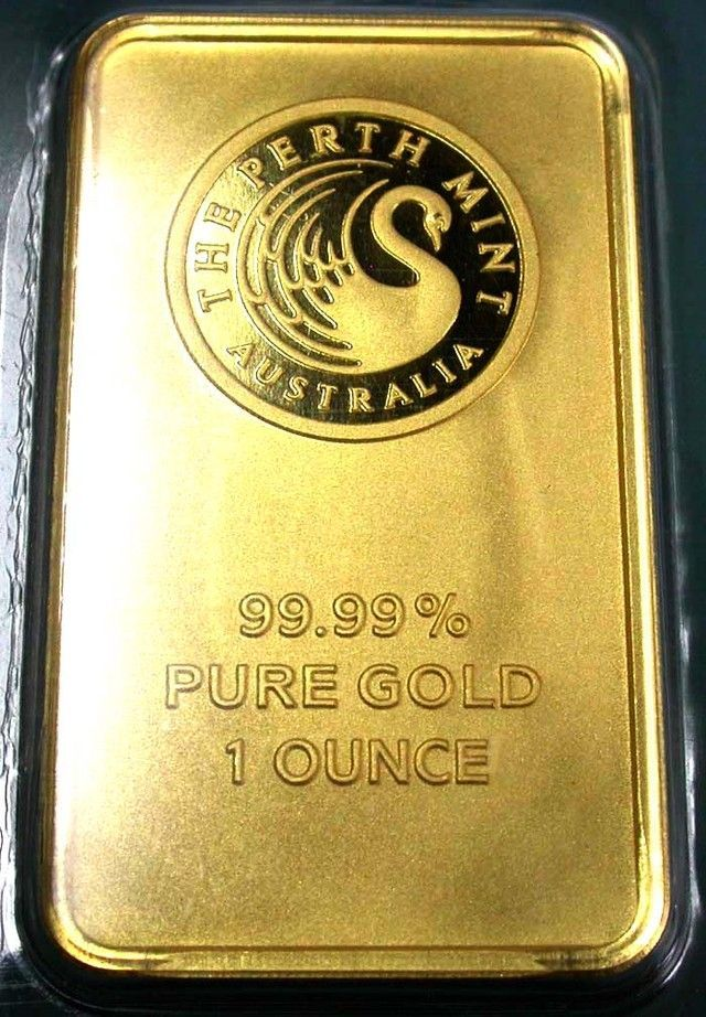 Certified One Ounce Perth Mint Gold Bar In 2020 Mint Gold Gold Bullion Bars Gold Money
