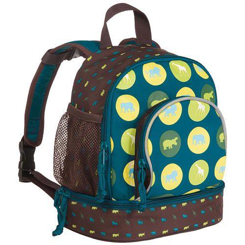 """Lassig Mini Backpack - Savannah Print Petrol - Lassig - Toys """"R"""" Us"""