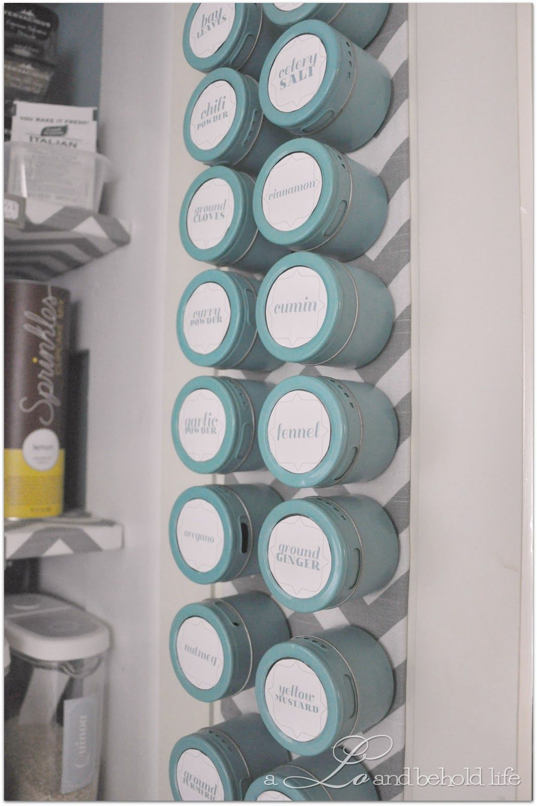DIY magnetic spice board. a LO and behold life | It\'s about time ...
