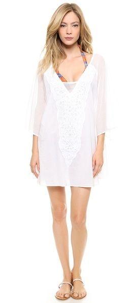 9b76cab3ba Vix Swimwear Solid White Caftan on shopstyle.co.uk | Надо ...