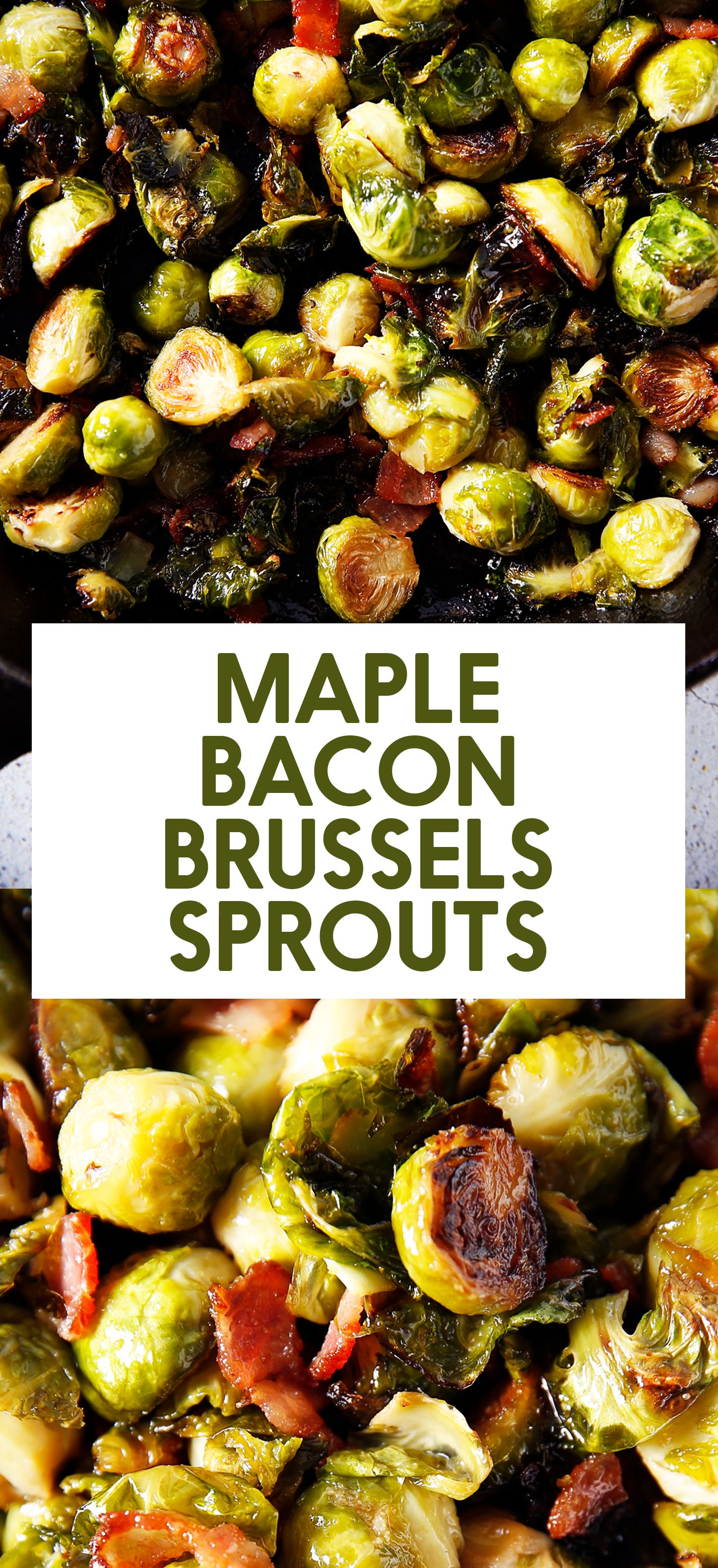 Maple Roasted Brussel Sprouts with Bacon - Lexi's Clean Kitchen