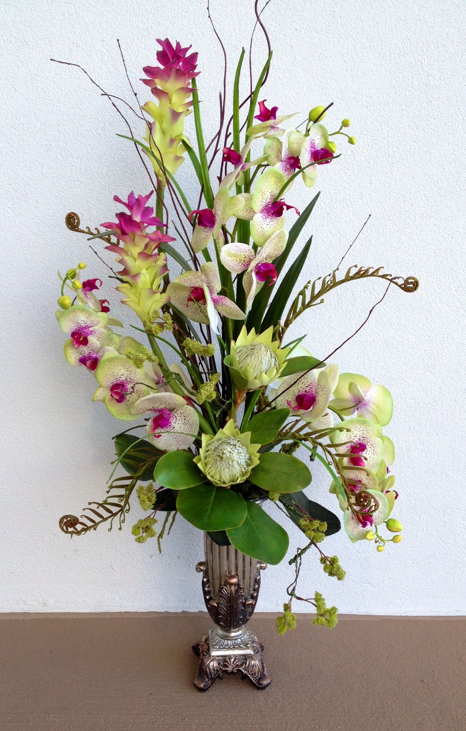 Orkide Tek Dal | Floral, Flower arrangements and Floral arrangement