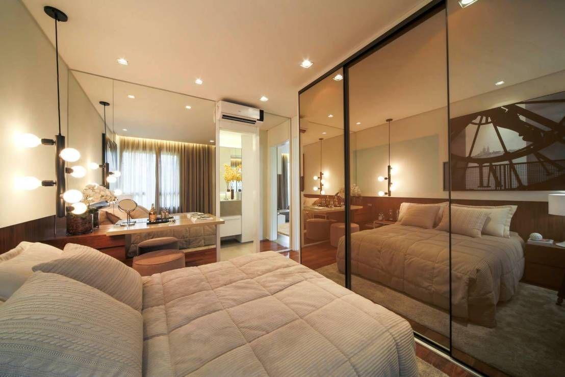 Porta De Vidro 40 Modelos Incr Veis Para Inspirar Portas De  ~ Espelho Bronze Em Quarto De Casal