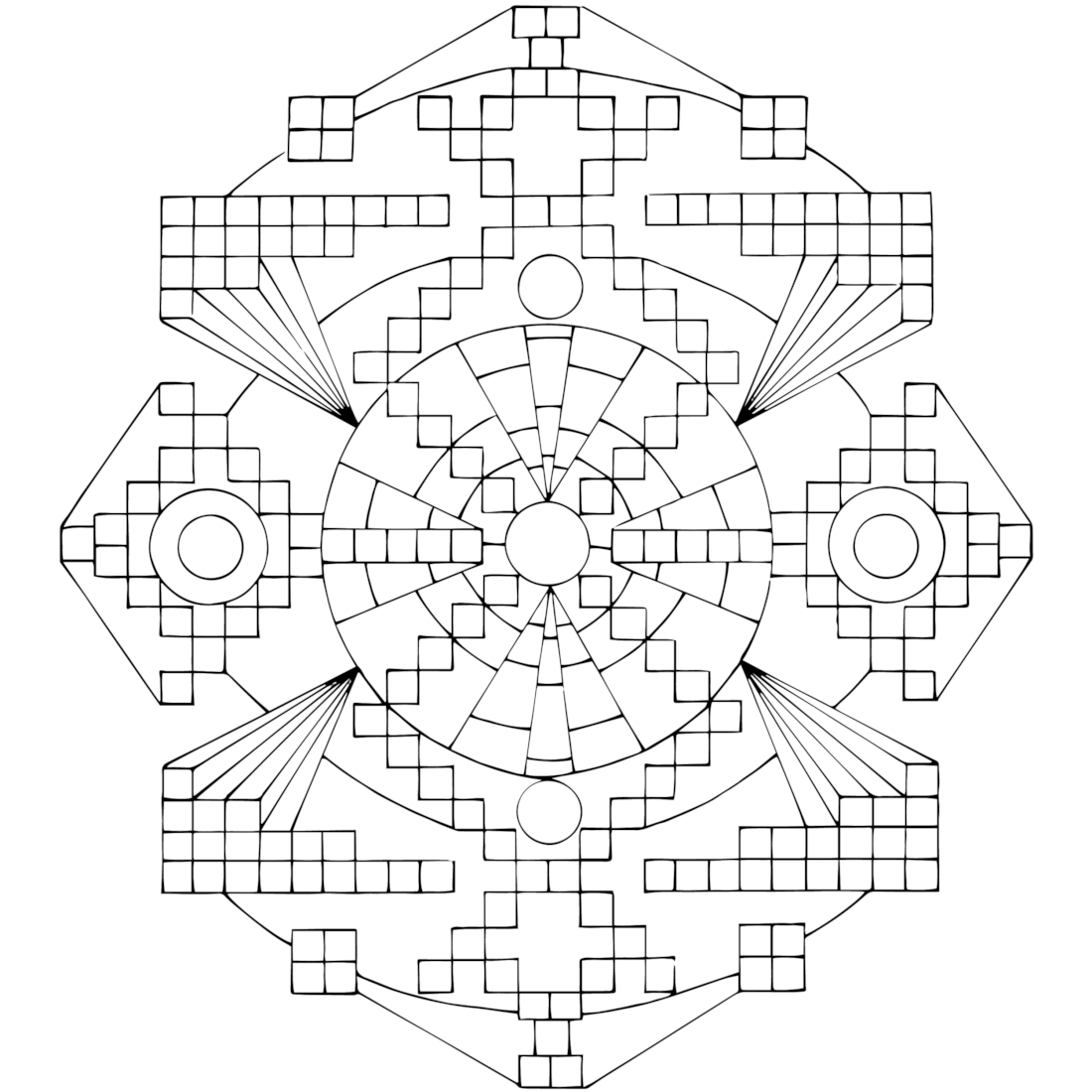 TV Test Pattern Coloring Page Pattern coloring pages