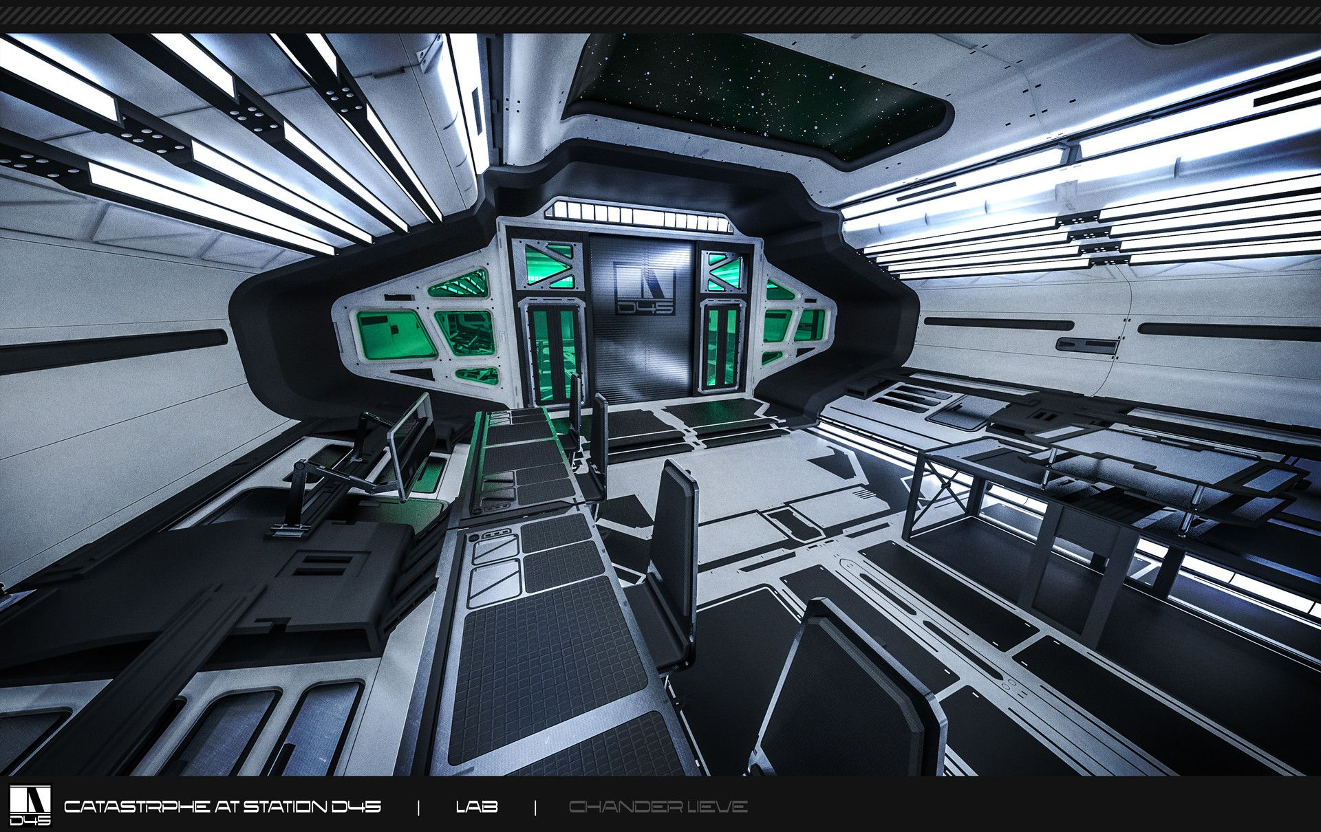 ArtStation - Lab Hallway - Mock-up Render, Chander Lieve