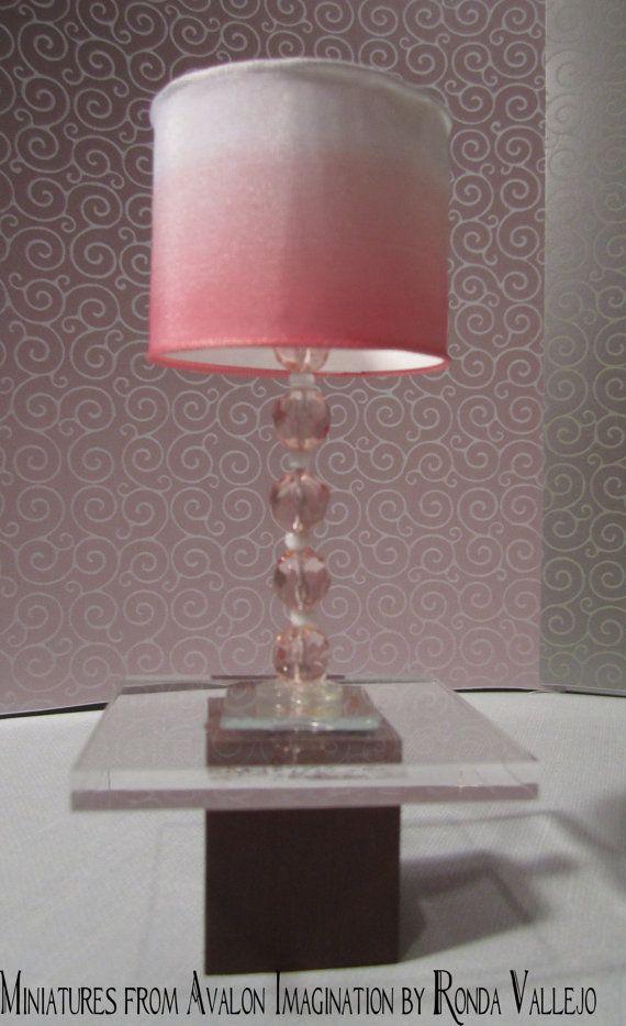 1//6 Dollhouse Miniatures White Lampshade Floor Lamp Furniture Decorative