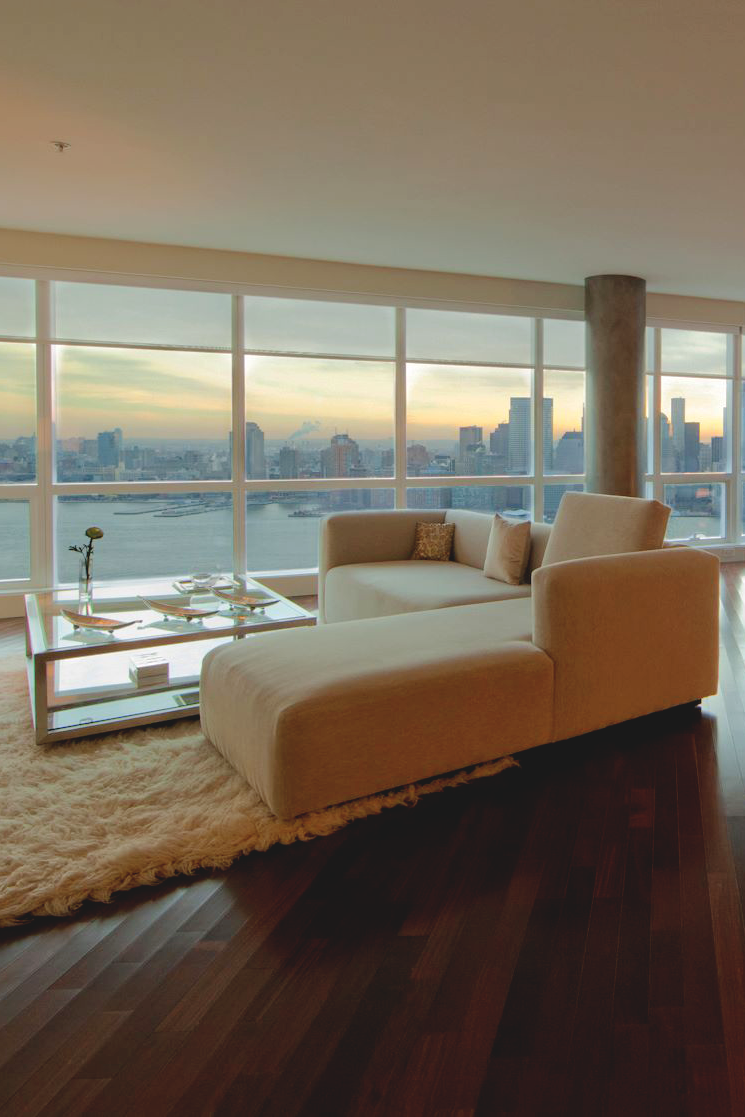 So, rather than the furniture and layout inside, it's the view that catches my eye. It's beautiful to have such a window overlooking that kind of view.