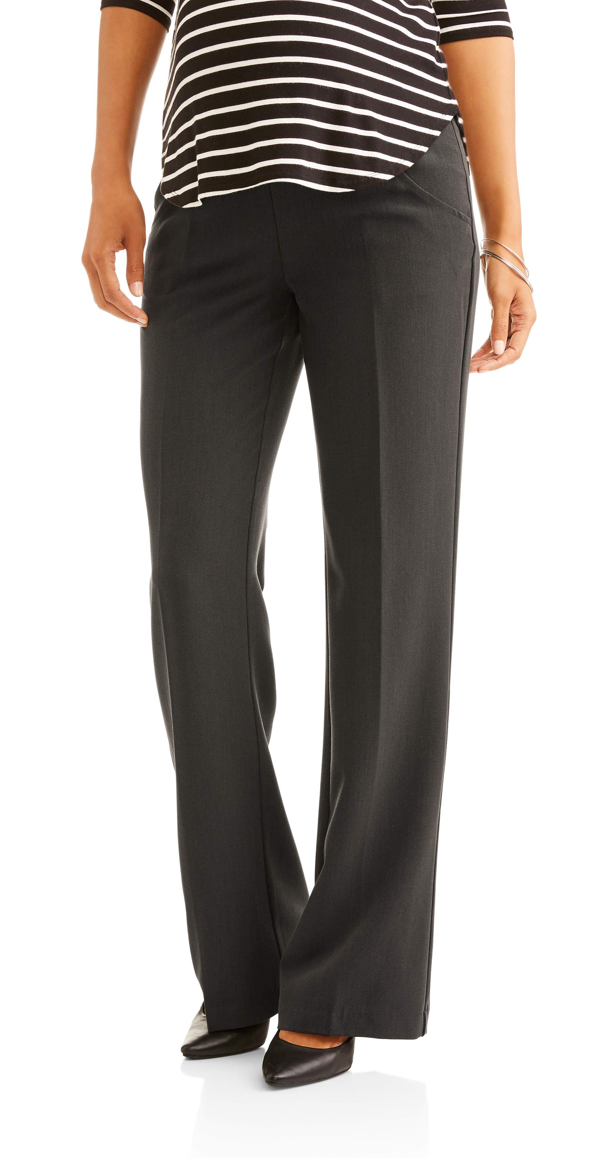 Oh Mamma Maternity Oh Mamma Wide Leg Career Pant With Full Panel Available In Plus Sizes Walmart Com Fall Maternity Outfits Maternity Work Pants Black Maternity Pants [ 3797 x 2000 Pixel ]