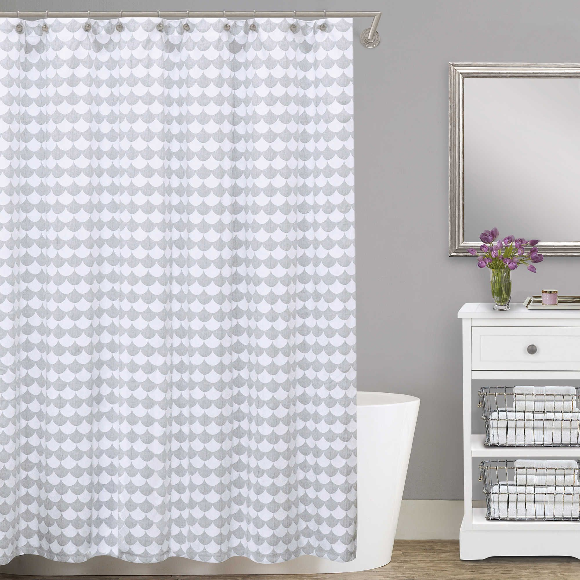 Lamont HomeR Finley Cotton Matelasse Shower Curtain