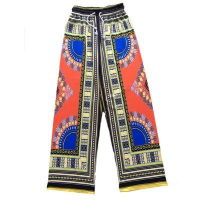 4aad0b4669b Women African Pants Dashiki Bohemia Print Loose Trousers Vintage Ankara  Pants With Pocket Summer Casual Plus Size Wide Leg Pants
